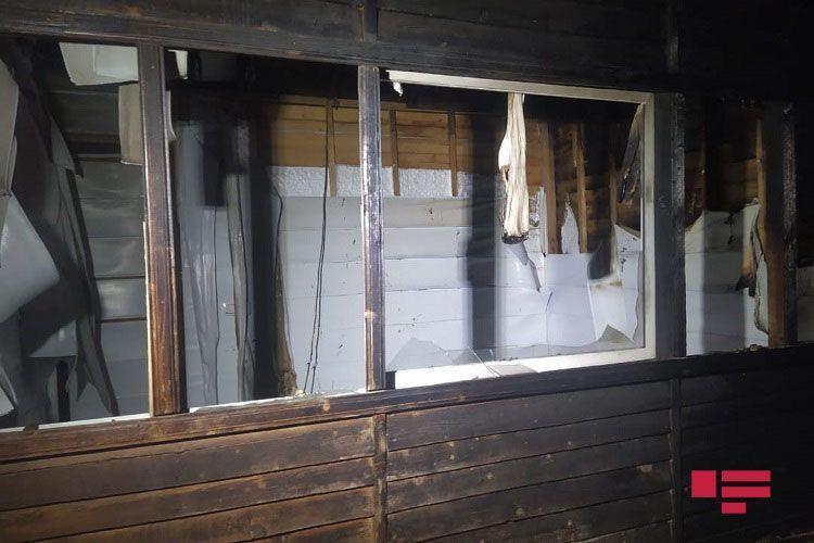 Сильный пожар в Шамкире