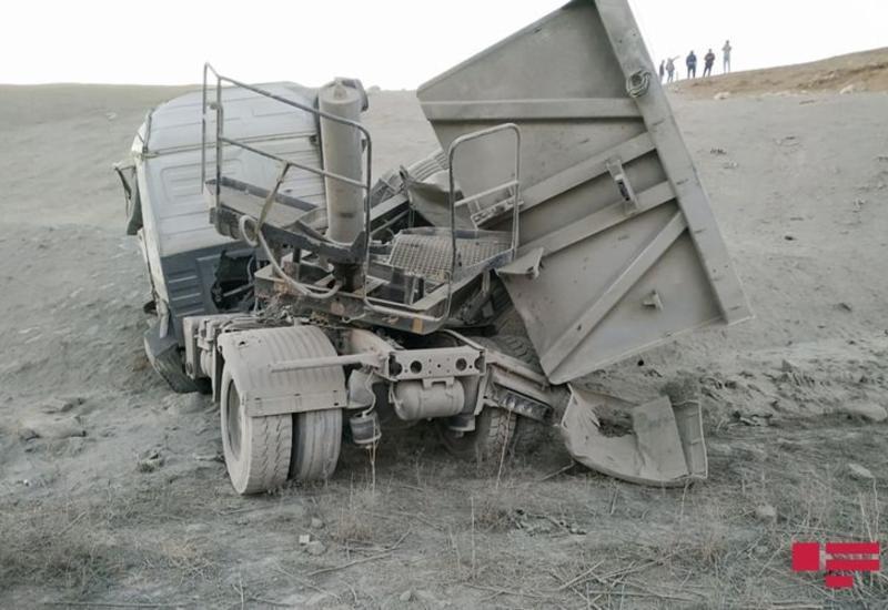 В Уджаре перевернулся грузовик