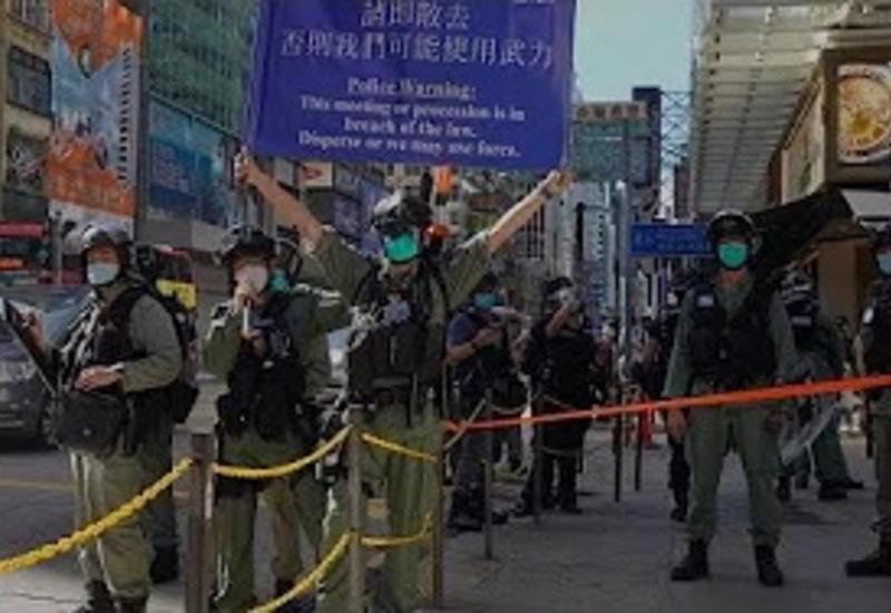 В Гонконге спецназ применил газ против демонстрантов