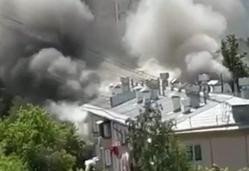 Сильный взрыв в жилом доме в Москве