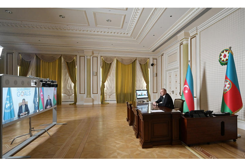 Состоялась видеоконференция между Президентом Ильхамом Алиевым и генеральным секретарем Всемирной туристской организации