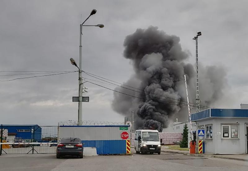 Крупный пожар в Санкт-Петербурге