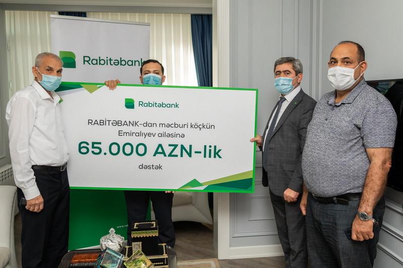 """""""Rabitəbank""""dan məcburi köçkün ailəsinə 65.000 AZN yardım"""