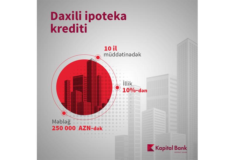 Kapital Bank предлагает внутренний ипотечный кредит на выгодных условиях (R)