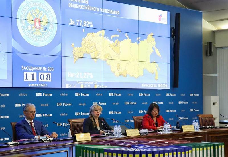 ЦИК России утвердил результаты всенародного голосования