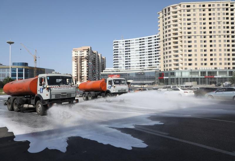 В Баку продезинфицированы более 540 улиц