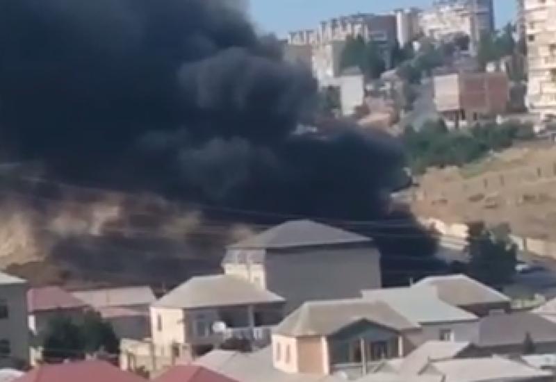 Еще один сильный пожар в Баку