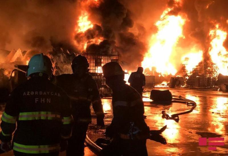 Пожар на фабрике в Баку привел к загрязнению воздуха