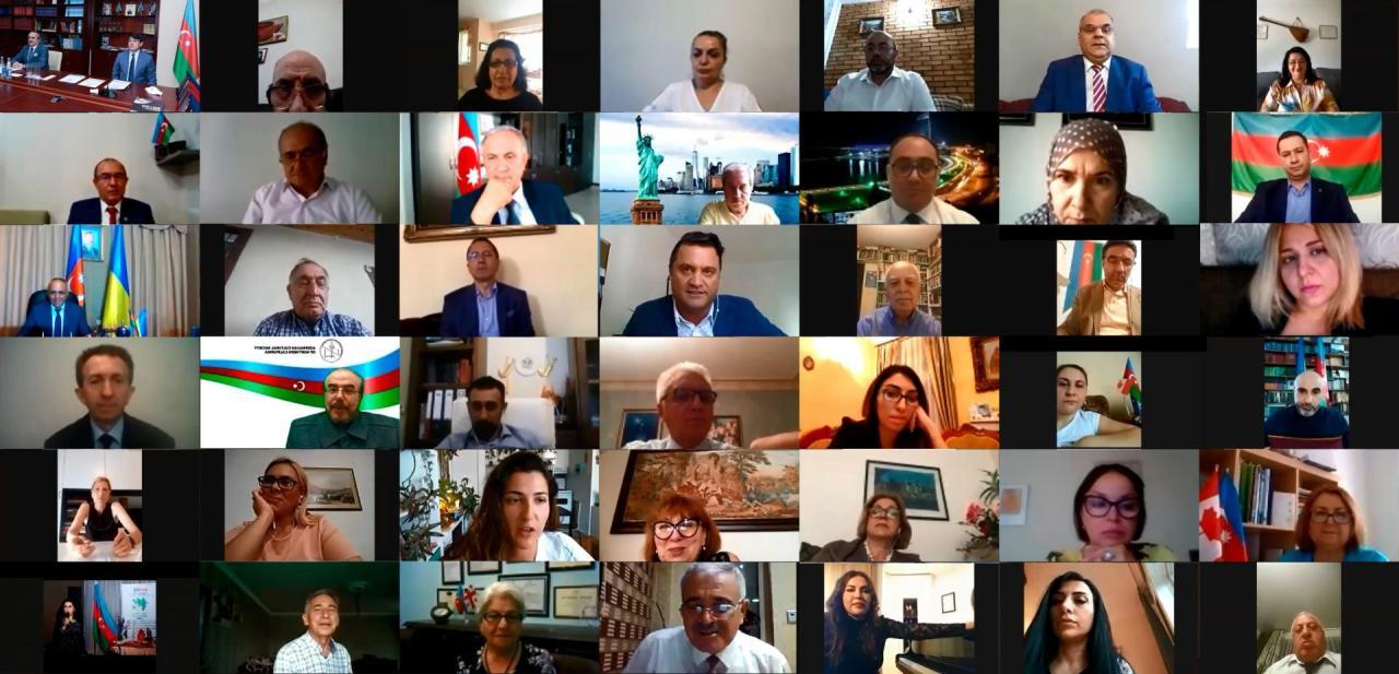 Состоялась видеоконференция посвященная 18-летию создания Госкомитета по работе с диаспорой