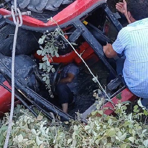 В Барде трактор упал в водный канал, водитель погиб