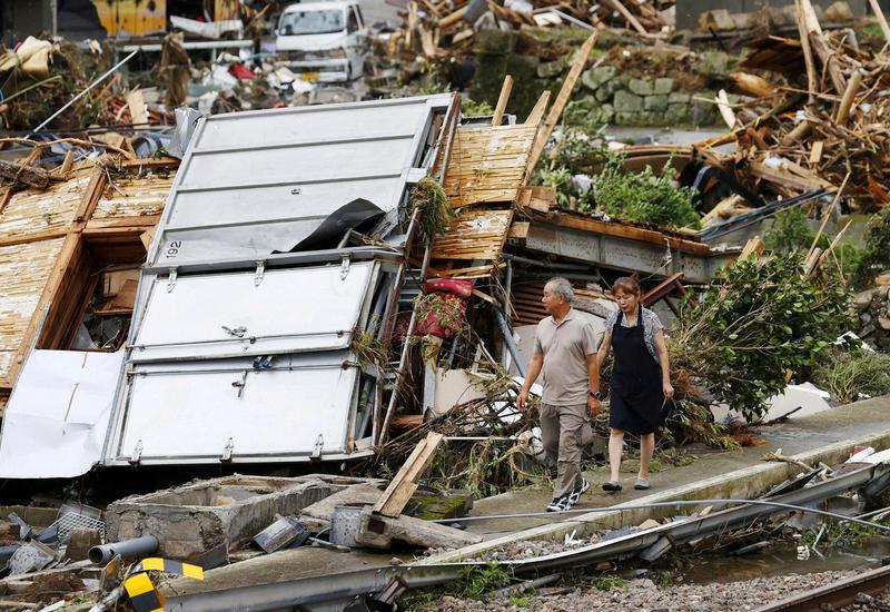 Последствия катастрофического наводнения в Японии
