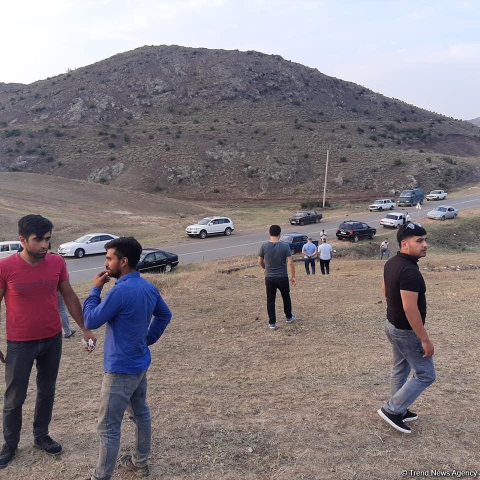 Жители Товуза поддержали армию Азербайджана