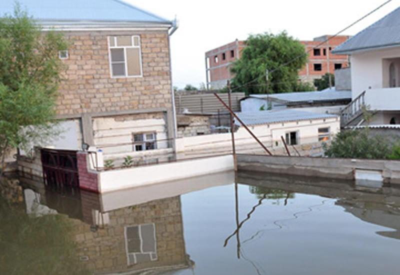 Устранены последствия наводнения в Гобустанском районе