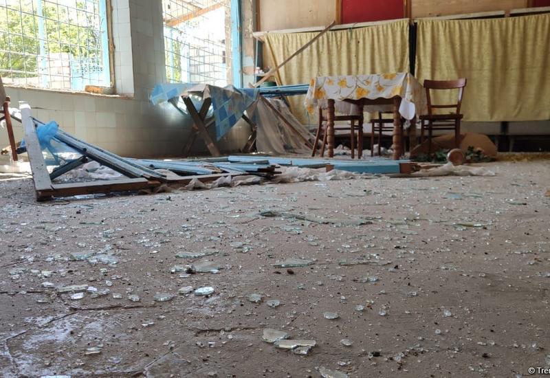 Армянские обстрелы привели к пожарам на гражданских объектах