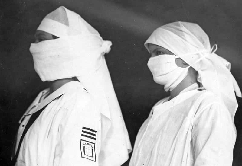 Какие маски носили 100 лет назад в пандемию испанки