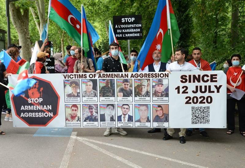 В Страсбурге прошел марш в знак протеста против вооруженных провокаций Армении