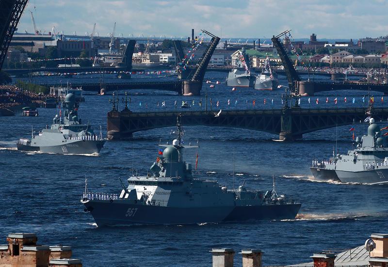 Как прошел главный парад в День ВМФ России
