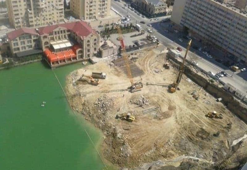В Ясамальском районе строится новый жилой комплекс