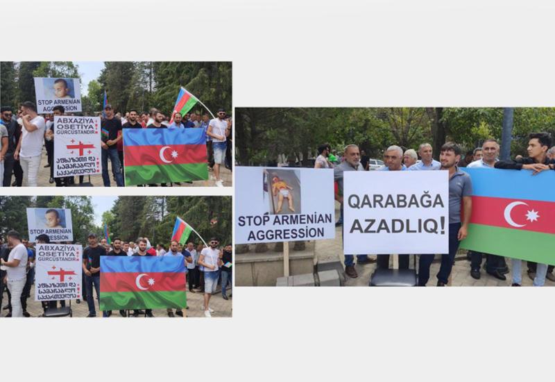 В Марнеули прошла акция в поддержку территориальной целостности Азербайджана