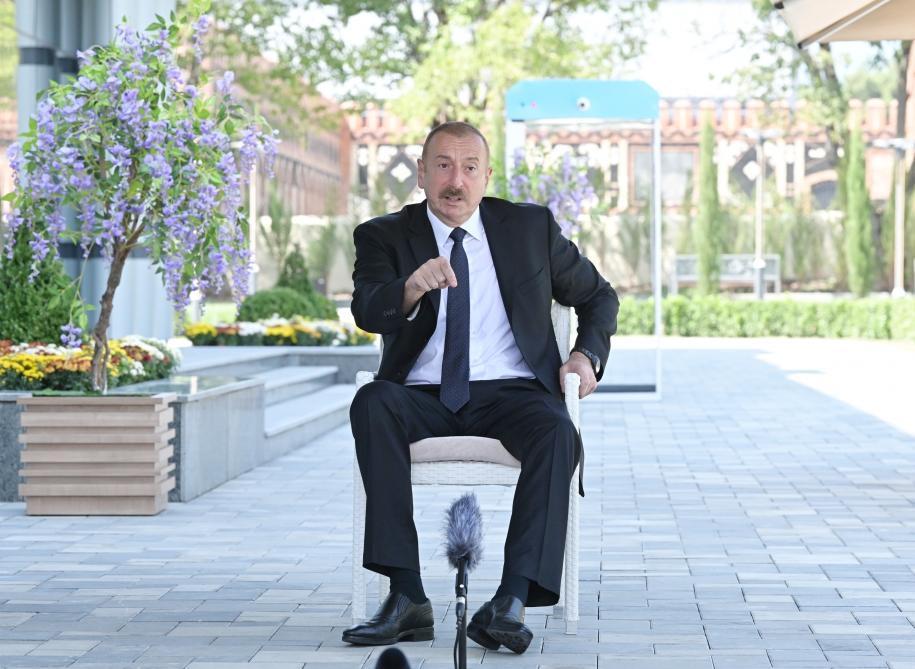 """Президент Ильхам Алиев принял участие в открытии Балакенского регионального центра """"ASAN xidmət"""""""
