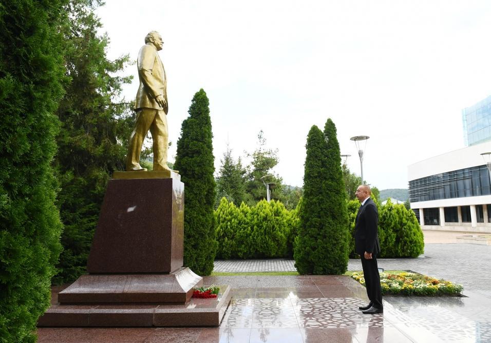 Президент Ильхам Алиев совершил поездку в Габалинский район