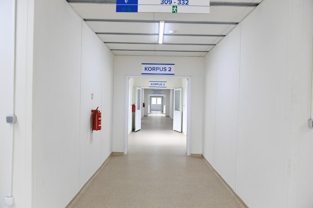 Президент Ильхам Алиев ознакомился с условиями, созданными в больнице модульного типа в Габале