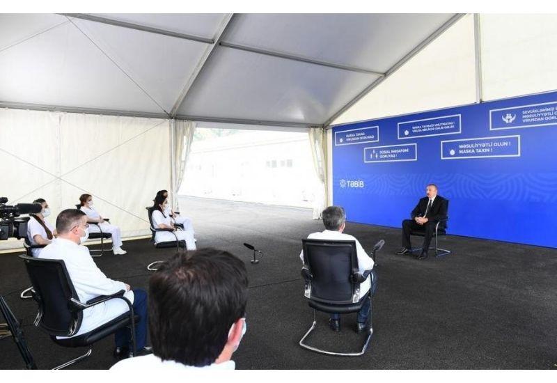Президент Ильхам Алиев: Мобилизовав в короткий срок все возможности, мы демонстрируем еще большую готовность в борьбе с COVID