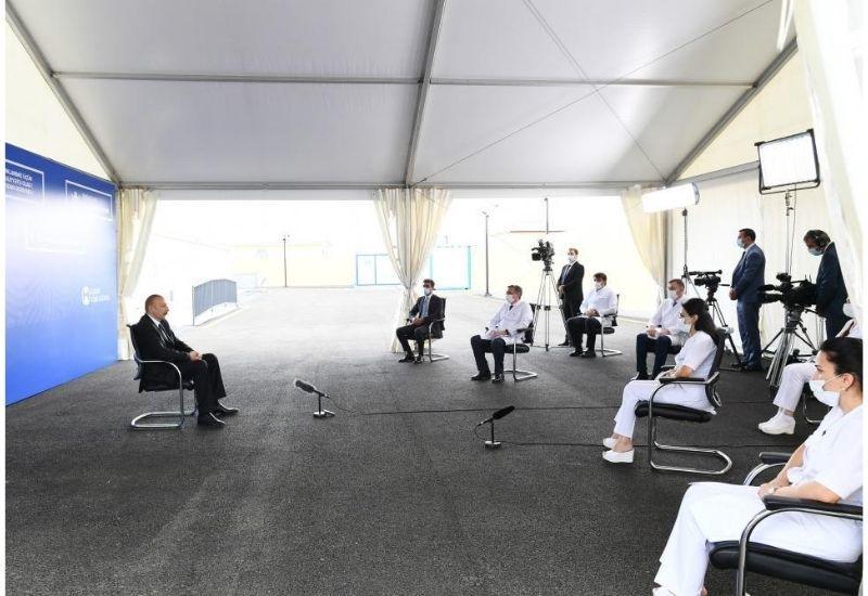 Президент Ильхам Алиев: Мы с первых дней держим болезнь под контролем