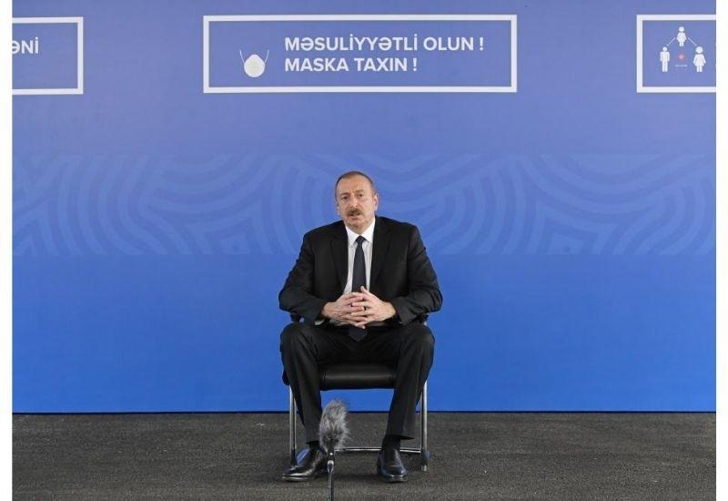 Президент Ильхам Алиев: В результате функционирования дополнительно шести больниц модульного типа у нас появляется примерно 6-тысячный коечный фонд