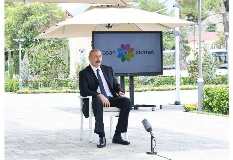 Президент Ильхам Алиев: В последние годы социально-экономическое развитие Балакенского района идет хорошо
