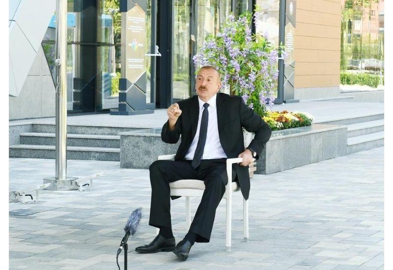 """Президент Ильхам Алиев: Пусть Армения, если хватает смелости, признает """"Нагорно-Карабахскую республику"""""""