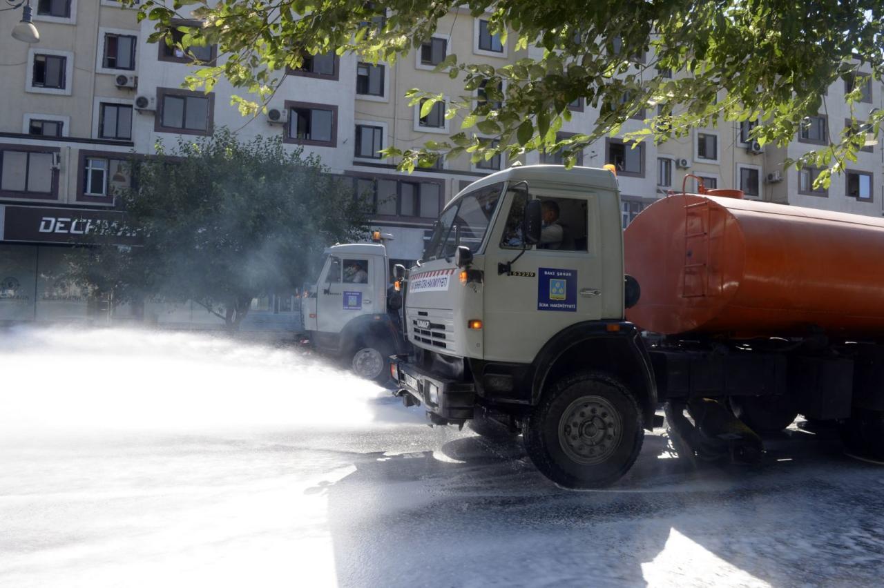 В Баку были продезинфицированы 548 улиц