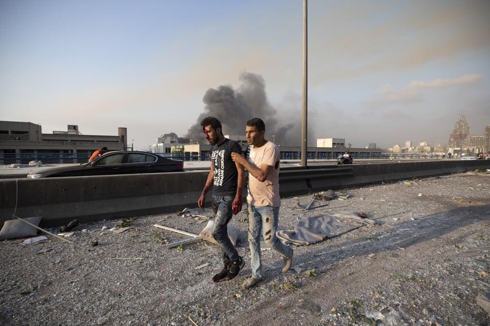 Кадры с места чудовищного взрыва в Бейруте