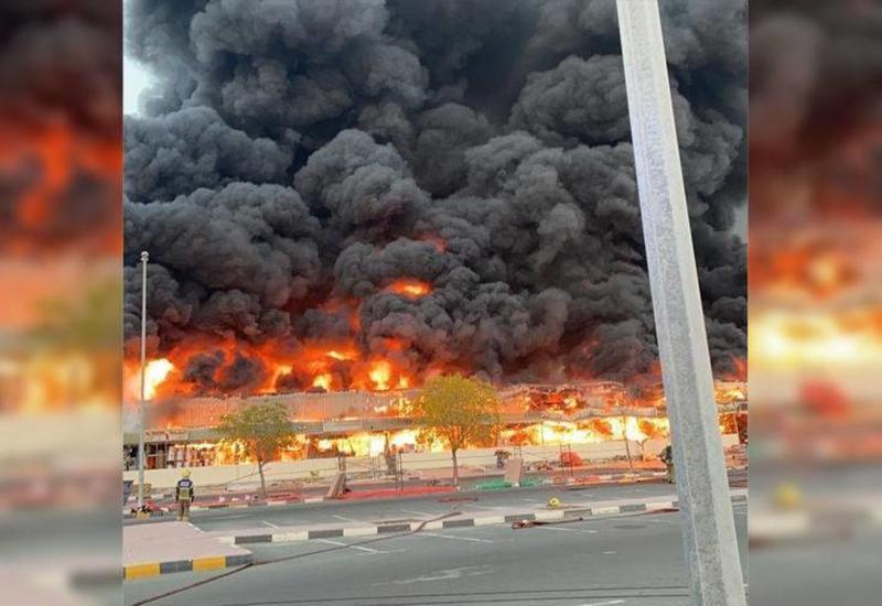 В ОАЭ горит один из крупнейших рынков страны