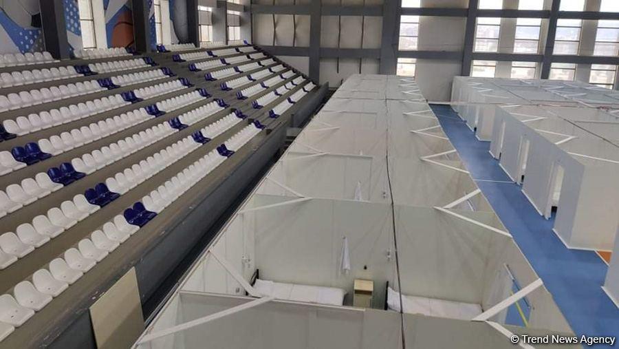 Абшеронский олимпийский спортивный комплекс временно преобразован в больницу модульного типа