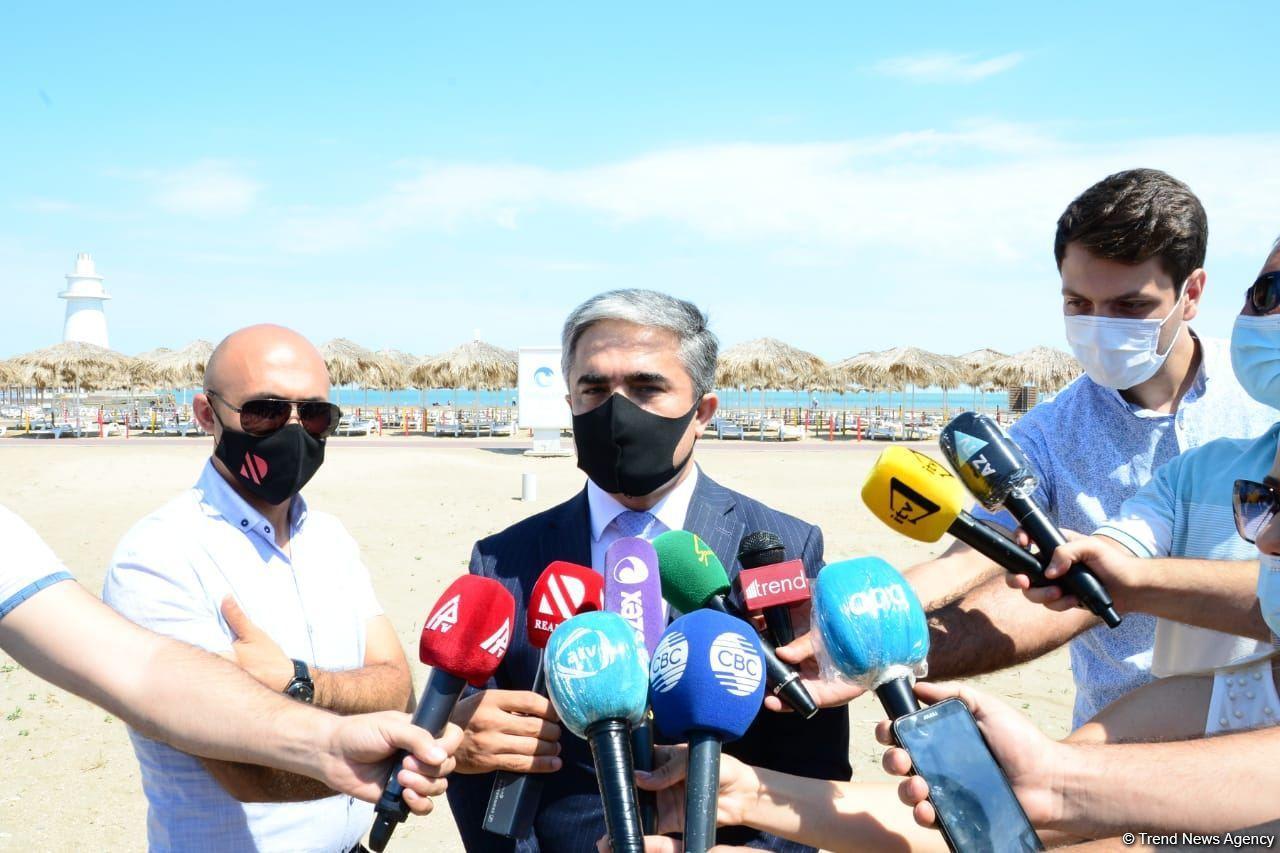 Первый день пляжного сезона на Абшероне