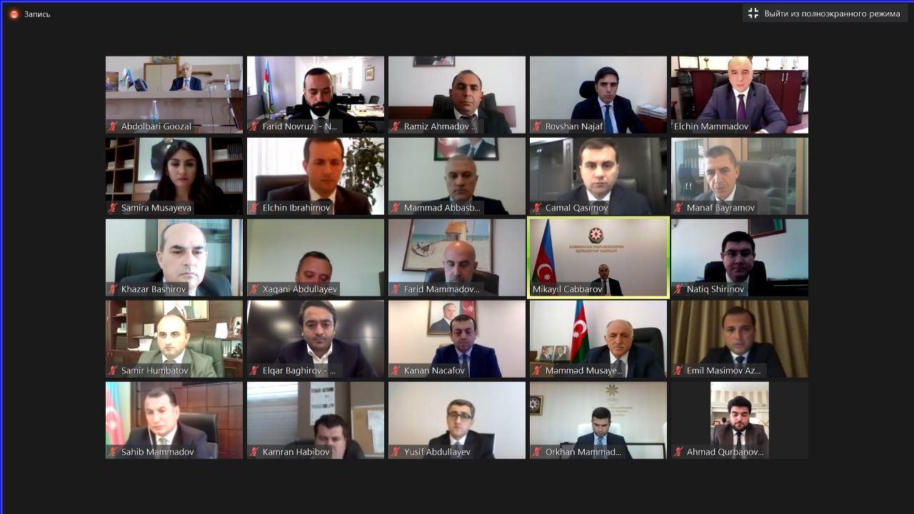 Микаил Джаббаров провел онлайн-встречу с предпринимателями