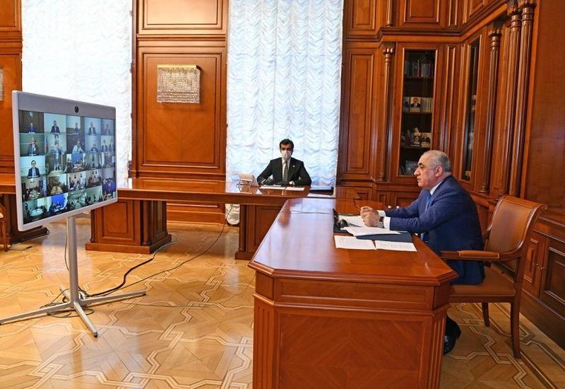 Оперативный штаб провел Республиканское видеосовещание в связи со специальным карантинным режимом