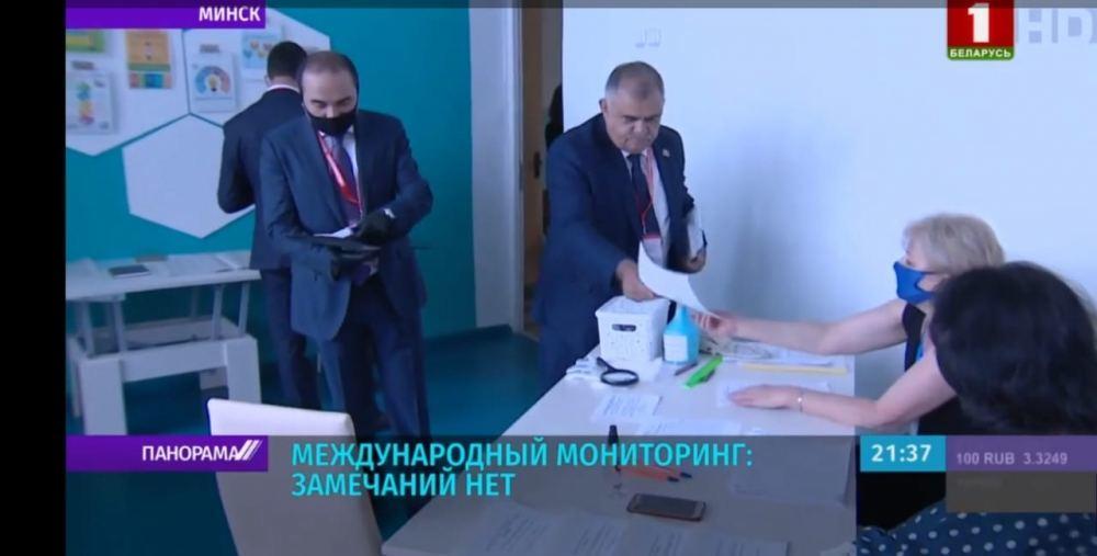Arzu Nağıyev: Belarusda keçirilən prezident seçkilərində səsvermə qanunvericiliyə uyğun şəkildə gedir