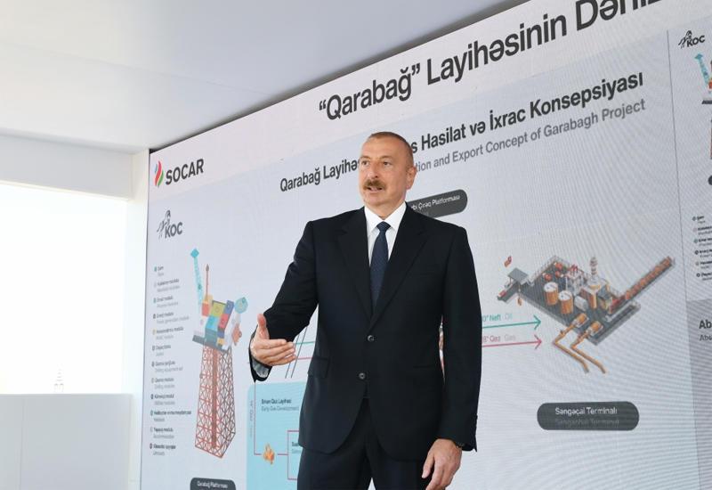 Президент Ильхам Алиев: Как сегодня мы возвращаемся на покинутое в свое время месторождение «Карабах», точно так же мы вернемся на родную карабахскую землю