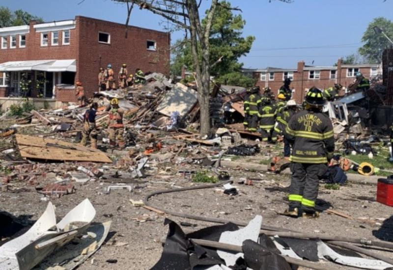 Мощный взрыв произошел в американском Балтиморе