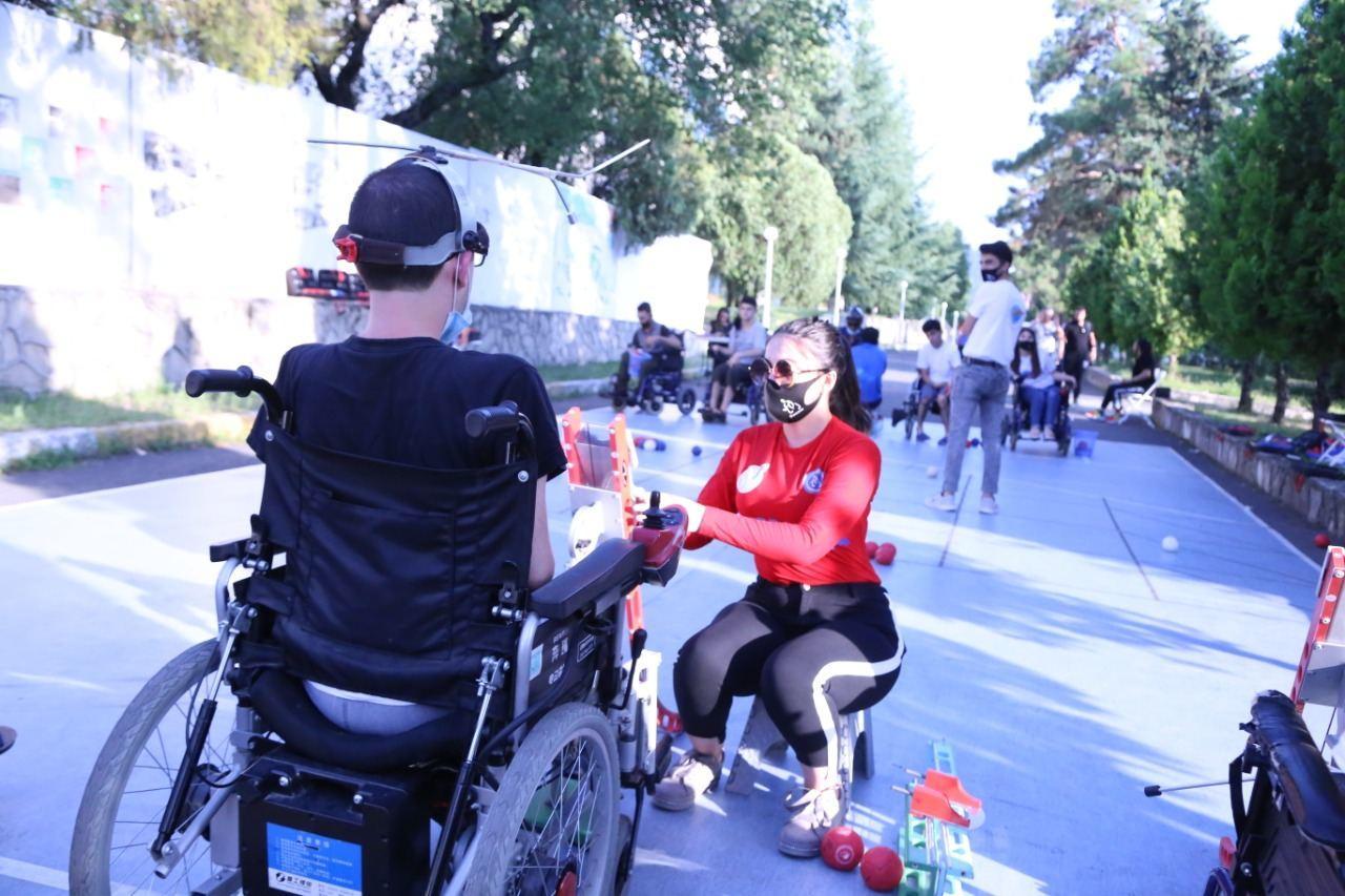 Команда Азербайджана по паралимпийскому виду спорта - бочча участвует в тренировочных сборах