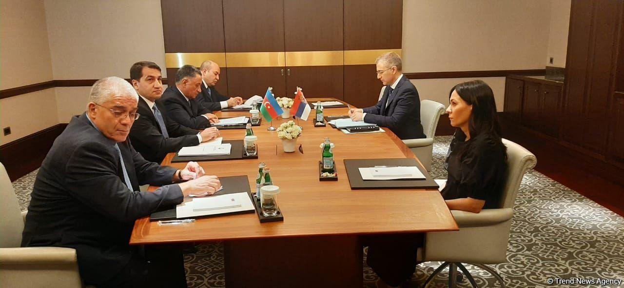 Состоялась встреча между вице-премьером Сербии и азербайджанской делегацией