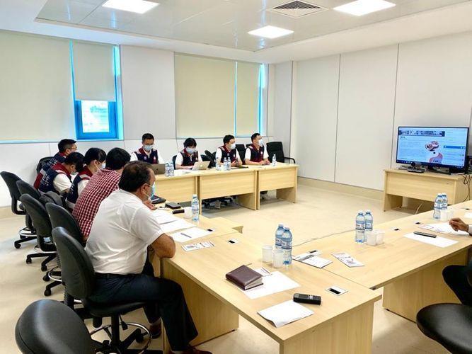 Прибывшие в Азербайджан из Китая медики провели видеоконференцию