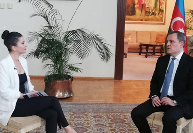 Джейхун Байрамов дал интервью телеканалу CNN Turk