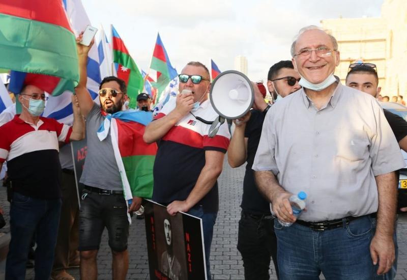 Сотни евреев азербайджанского происхождения, проживающих в Израиле, выступили против армянской агрессии