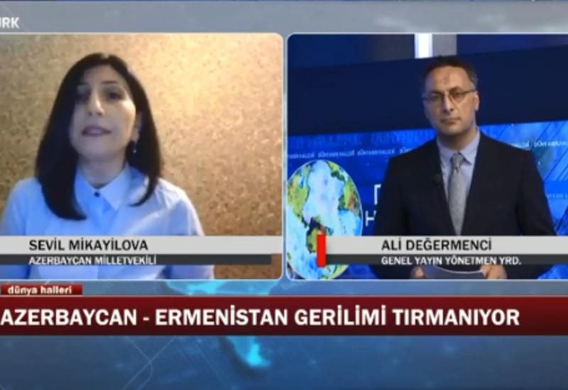 Депутат Севиль Микаилова дала интервью турецкому телеканалу Ekotürk
