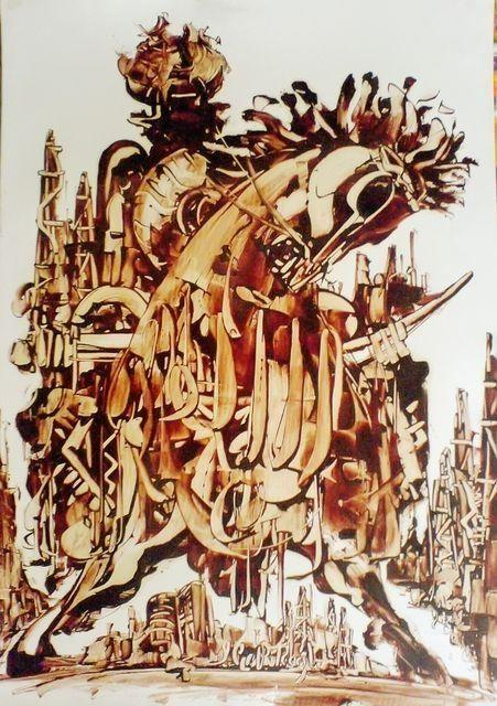 Уникальные картины Сабира Чопурова, написанные нефтью