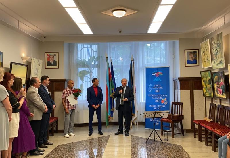 В Эстонии отметили 80-летний юбилей азербайджанского художника