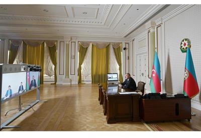 Президент Ильхам Алиев принял Фаига Гурбатова и Эльмира Багирова в связи с их назначением на должности глав Исполнительной власти Билясуварского и Саатлинского районов - ФОТО